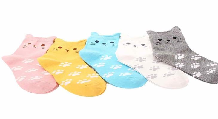 Женские носки в форме кошек